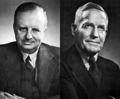 Coopers & Lybrand Canada founders George S. Currie (left) and George C. McDonald (right).