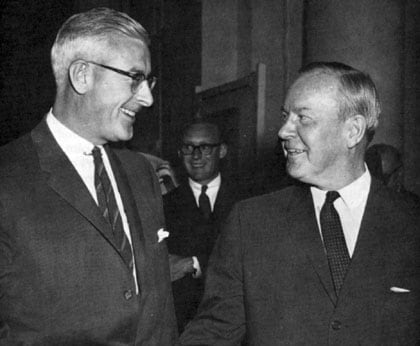 Price Waterhouse Senior Partner and Chairman of the Executive Committee from 1968-75, M. Laird Watt (left).