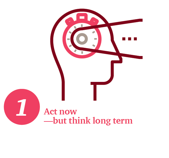 Act now—but think long term