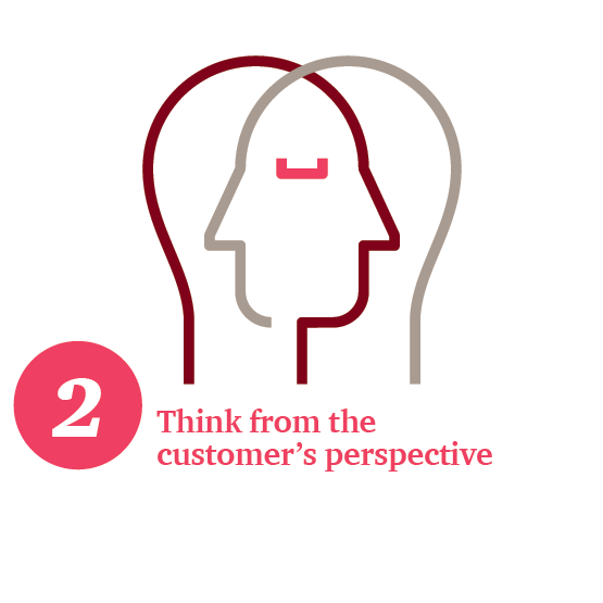Think from the customer's perspective