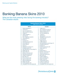 Banking Banana Skins 2010: The Canadian results