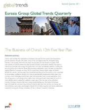 The Business of China's 12th Five Year Plan