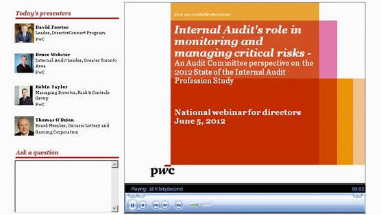 Webinar: Internal Audit's role in monitoring and managing critical risks – An Audit Committee perspective