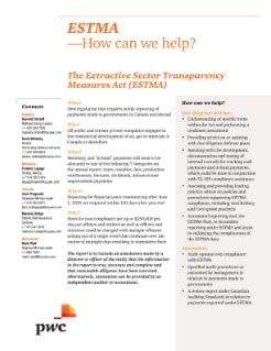 ESTMA - How can we help?