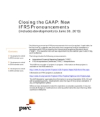 2013-07-04 Closing the GAAP:  New IFRS Pronouncements (includes developments to June 30, 2013)