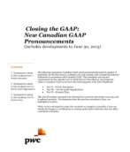 2013-07-04 Closing the GAAP:  New Canadian GAAP Pronouncements (includes developments to June 30, 2013)