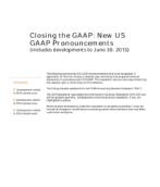 2013-07-04 Closing the GAAP:  New US GAAP Pronouncements (includes developments to June 30, 2013)