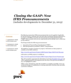 2014-01-07 Closing the GAAP:  New IFRS Pronouncements (includes developments to December 31, 2013)