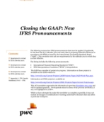 2014-04-02 Closing the GAAP: New IFRS Pronouncements (includes developments to March 31, 2014)