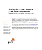 2014-06-30 Closing the GAAP: New US GAAP Pronouncements (includes developments to June 30, 2014)