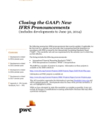 Closing the GAAP: New IFRS Pronouncements (includes developments to June 30, 2014)