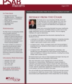 PSAB Matters - August 2014