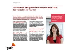 2011-12-20 Assessment of deferred tax assets under IFRS - Key IFRS Reminders