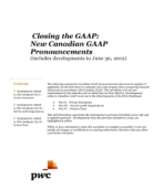 2012-07-06 Closing the GAAP: New Canadian GAAP Pronouncements (includes developments to June 30, 2012)
