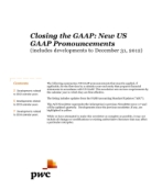 2013-01-15 Closing the GAAP: New US GAAP Pronouncements (includes developments to December 31, 2012)