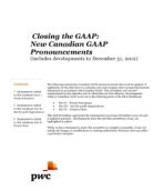 2013-01-15 Closing the GAAP:  New Canadian GAAP Pronouncements (includes developments to December 31, 2012)
