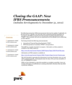 2013-01-15 Closing the GAAP:  New IFRS Pronouncements (includes developments to December 31, 2012)