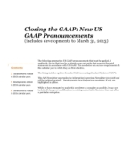 2013-04-04 Closing the GAAP: New US GAAP Pronouncements (includes developments to March 31, 2013)