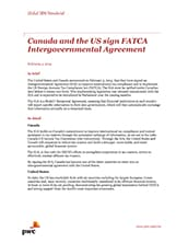 Global IRW Newsbrief: Canada and the US sign FATCA Intergovernmental Agreement