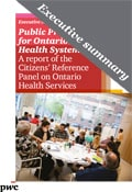 A report of the Citizens' Reference Panel on Ontario Health Services – Executive summary