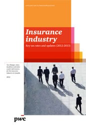 Insurance industry: Key tax rates and updates (2012- 2013) – Re-issued