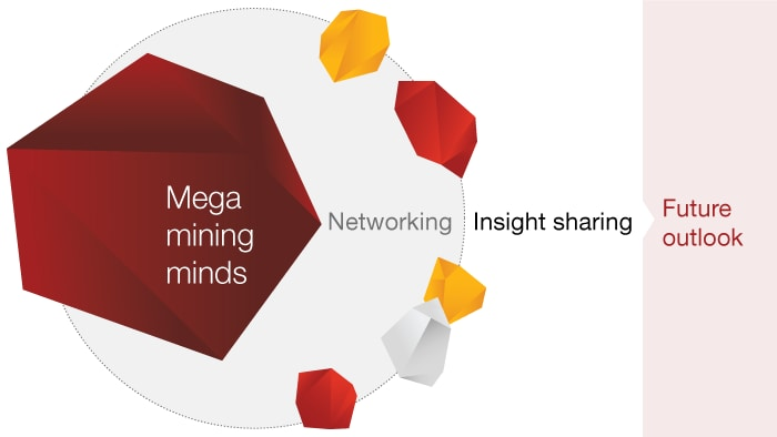 Sharing insights and networking at PwC Mega mining minds event