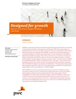 Designed for growth - Maestro Performance Insights Workshop Case Study