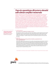 Top six questions directors should ask about conflict minerals