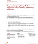 Tax Insights: July 12, 2013 draft legislative proposals: Important implications for foreign affiliates