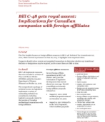 Tax Insights: Bill C-48 gets royal assent — Implications for Canadian companies with foreign affiliates