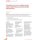 Tax Insights: Canada's new non-resident trust rules: What they mean for global equity plans