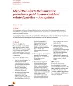 Publication cover for 'Tax Insights: GST/HST alert: Reinsurance premiums paid to non-resident related parties — An update'