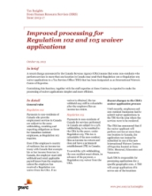 Tax Insights: Improved processing for Regulation 102 and 105 waiver applications