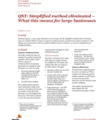 Tax Insights: QST: Simplified method eliminated – What this means for large businesses