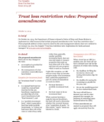 Publication cover for 'Tax Insights: Trust loss restriction rules – Proposed amendments'