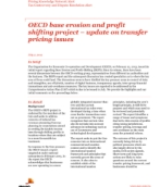 PKN Alert: OECD base erosion and profit shifting project – update on transfer pricing issues