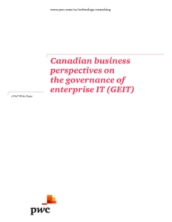 Canadian business perspectives on the governance of enterprise IT