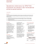 Point de vue fiscal : Questions relatives à la TPS/TVH touchant les secteurs de l'immobilier et de la construction