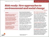 10Minutos<br /> Risk ready: New approaches to environmental and social change