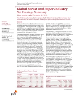 Global Forest and Paper Industry: Net Earnings Summary | PwC