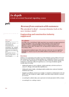 Adoption of the requirements of the new revenue accounting standard