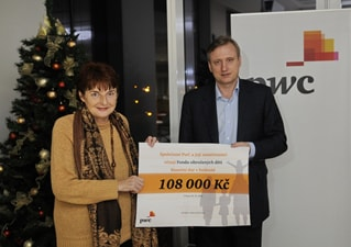 The director of the Fund for Children in Need, took over our financial donation in the amount of CZK 108 000.
