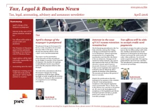 Tax, Legal & Business News February 2016