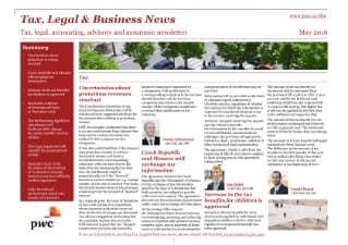 Tax, Legal & Business News May 2016
