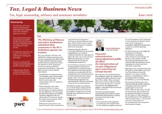 Tax, Legal & Business News June 2016