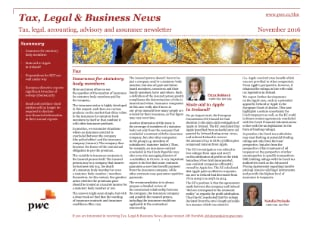 Tax, Legal & Business News November 2016