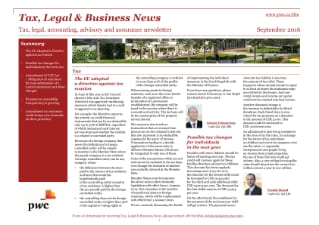Tax, Legal & Business News September 2016