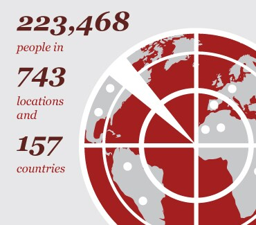 223,459 people in 756 locations and 158 countries