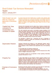 Real Estate Tax Services Newsalert: Spain: Issue 2