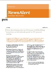 This PwC newsletter provides coverage of real estate tax developments in Germany.